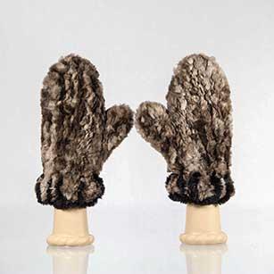 Sheared Beaver Fur Mittens