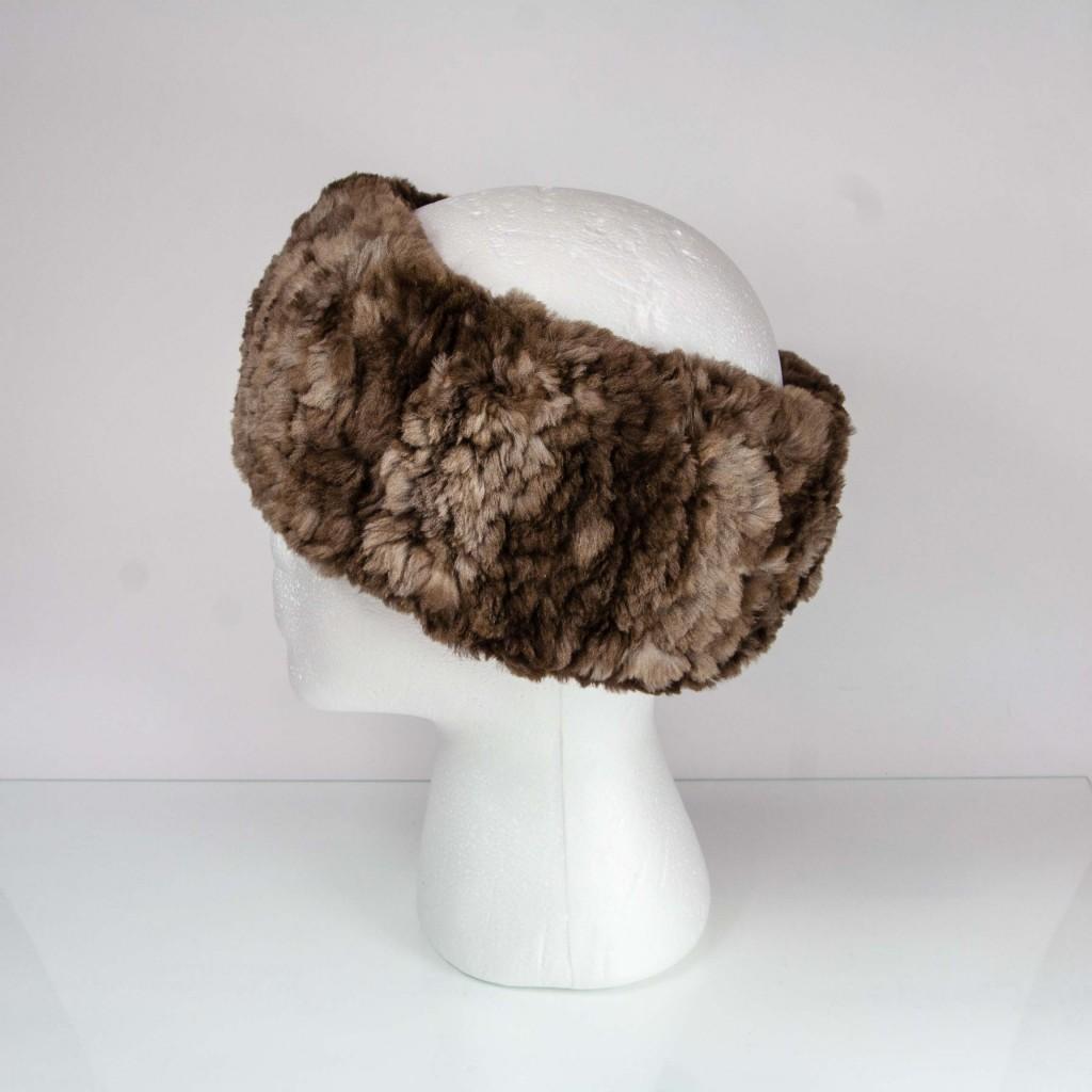 Classic Natural Beaver Fur Headband