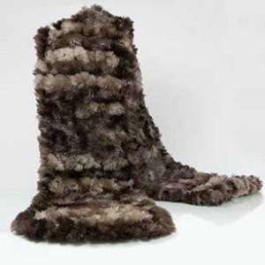 Sheared Beaver Fur Scarf